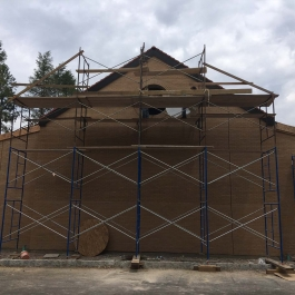 St. Josephs - New addition to Church bricked
